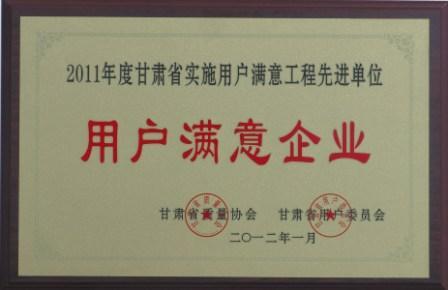 2011年度甘肃省实施用户满意工