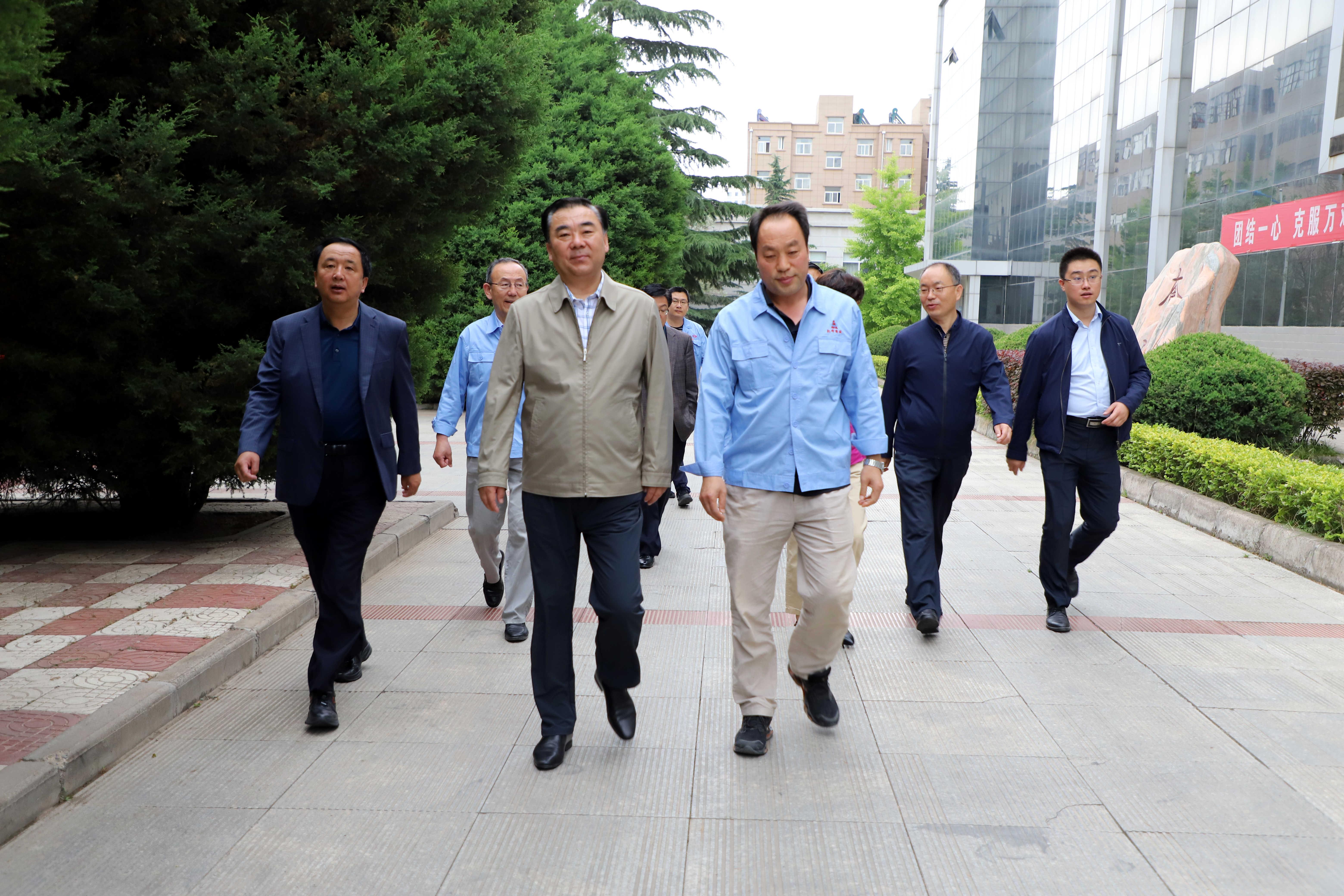 省委常委、统战部部长马廷礼前来公司调研